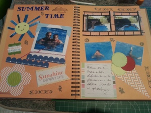 "Página de mi Smash Book: "" Summer Time"" 27-8-13"